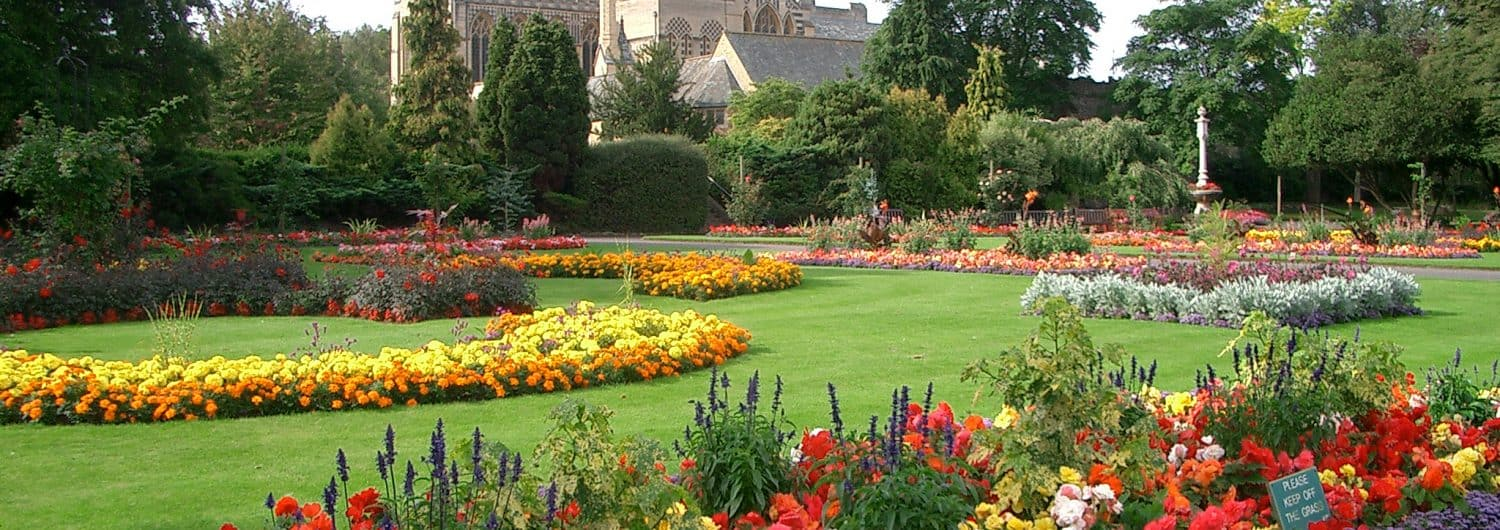 Abbey Gardens in Bury St Edmunds