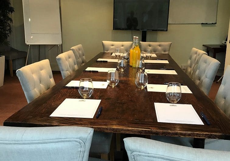 Committee Room set up for a meeting
