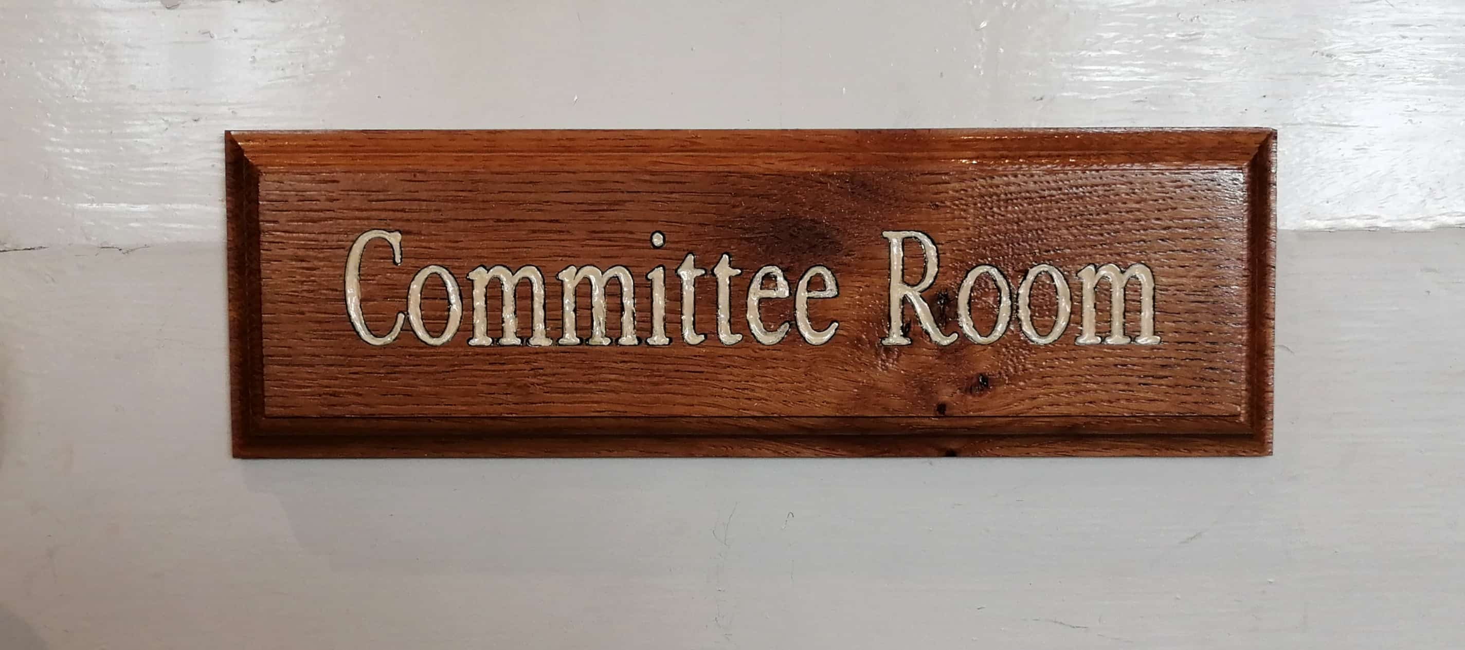Committee room sign