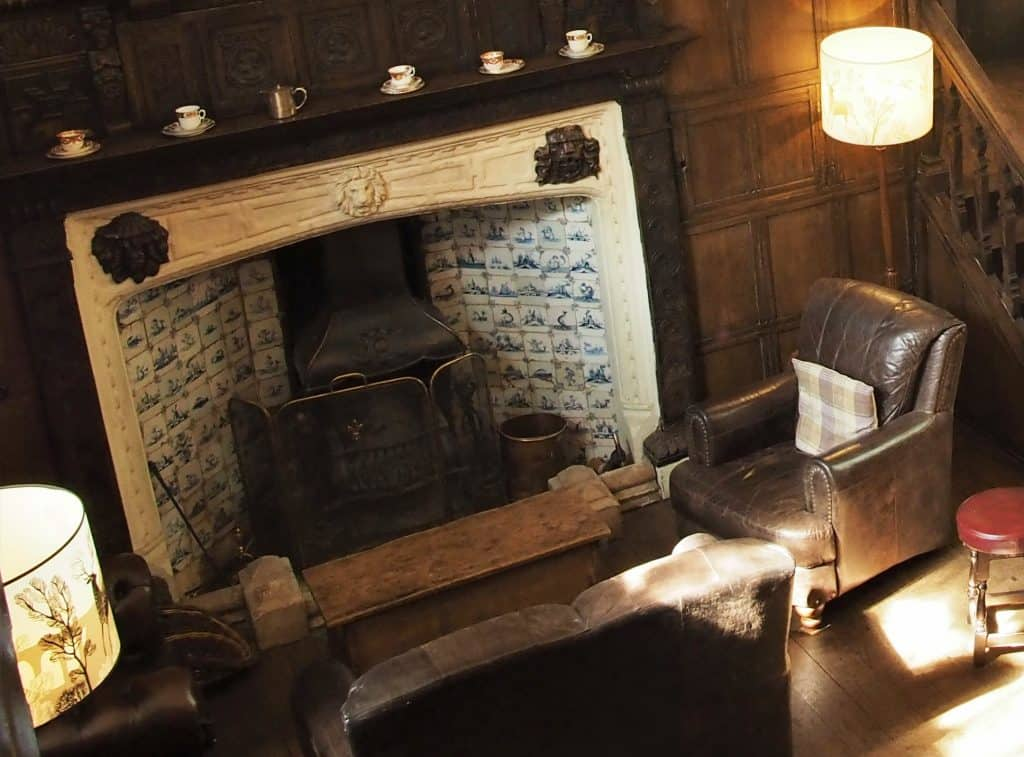 The Fireplace in the Lower Lounge