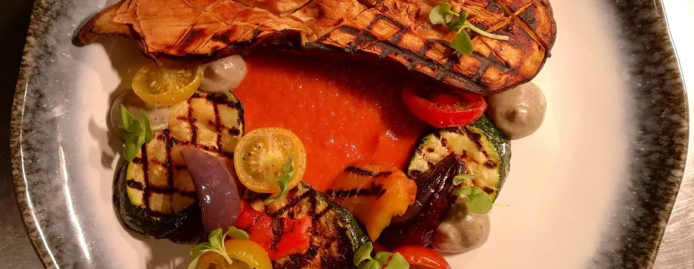 Miso Roasted Aubergine with Ratatouille